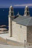 西班牙,加利西亚,穆希亚, Virxen de la巴尔卡角圣所 免版税库存照片