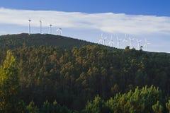西班牙,加利西亚,风轮机 库存图片