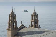西班牙,加利西亚, Muxia, Virxen de la巴尔卡角圣所 免版税库存图片