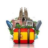 西班牙,地标马德里和巴塞罗那,旅行 库存图片