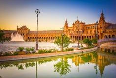 西班牙,塞维利亚,西班牙的正方形 免版税库存照片