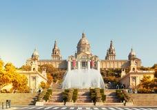 西班牙,巴塞罗那的正方形 免版税库存图片