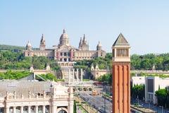西班牙,巴塞罗那的正方形 库存照片
