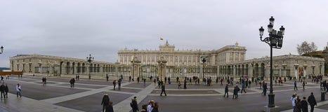 西班牙,马德里, 2013年12月31日,到王宫的参观,也叫东方的宫殿 免版税图库摄影