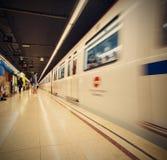 西班牙,巴塞罗那2013-06-13,地铁站Verdaguer 免版税库存照片