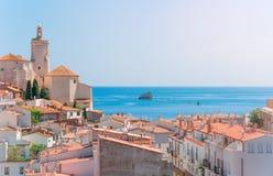 西班牙 卡塔龙尼亚 在肋前缘Brava的Cadaques 著名touris 免版税库存照片