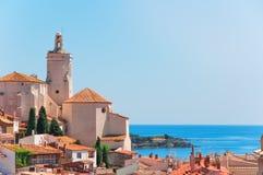 西班牙 卡塔龙尼亚 在肋前缘Brava的Cadaques 著名touris 免版税库存图片