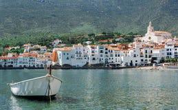 西班牙 卡塔龙尼亚 在肋前缘Brava的Cadaques 著名touris 库存照片