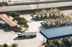 西班牙 巴塞罗那 海港 Zona弗朗卡 被采取的照片01 05 2017年 免版税库存照片