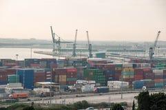 西班牙 巴塞罗那 海港 Zona弗朗卡 被采取的照片01 05 2017年 免版税图库摄影