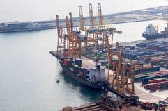 西班牙 巴塞罗那 海港 Zona弗朗卡 被采取的照片01 05 2017年 库存图片