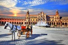 西班牙-塞维利亚,安大路西亚地标  免版税库存照片
