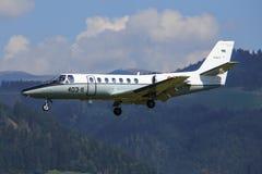 西班牙-空军队赛斯纳560引证 免版税库存图片