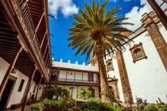 西班牙 canaria gran 古城拉斯帕尔马斯 库存照片