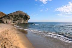 西班牙- Playa Monsul 免版税库存图片