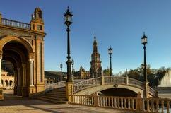 西班牙(Plaza de西班牙) -塞维利亚的地方 免版税库存照片