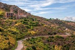 西班牙 Port de la Selva,卡塔龙尼亚 Bened的美丽的景色 免版税库存照片