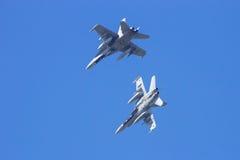 西班牙F-18大黄蜂 图库摄影