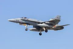西班牙F-18大黄蜂 库存照片