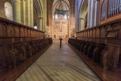 西班牙Poblet修道院,在卡塔龙尼亚 库存照片