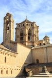 西班牙Poblet修道院,在卡塔龙尼亚 免版税库存照片