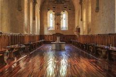 西班牙Poblet修道院,在卡塔龙尼亚 免版税库存图片