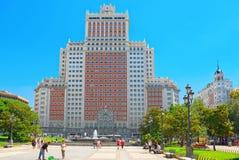 西班牙Square Plaza de西班牙是一个大正方形,一普遍的tou 免版税库存照片