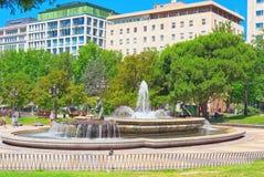 西班牙Square Plaza de西班牙是一个大正方形,一普遍的tou 库存照片