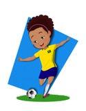 巴西球员 免版税库存图片