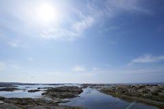 西瑞典的海岸 库存图片