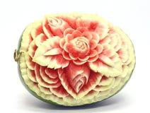 西瓜亚洲果子雕刻 免版税库存照片