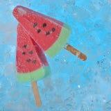 西瓜冰淇凌 库存图片