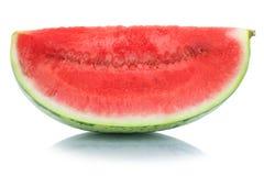 西瓜切片在白色隔绝的果子夏天 库存照片