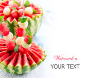 西瓜和甜瓜球 图库摄影