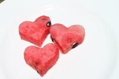 西瓜心脏 库存图片