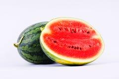西瓜是与甜口味的果子 免版税库存照片