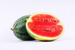 西瓜是被隔绝的健康甜fruiton白色背景果子食物 免版税库存图片
