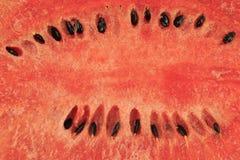 西瓜球的核心成熟和种子 库存照片