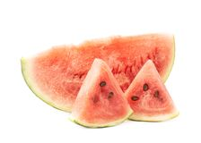 西瓜被隔绝的果子构成 免版税库存照片