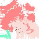 西瓜难看的东西桃红色绿色bckground 淡色掠过冲程油漆 传染媒介摘要纸标志形状 墨水艺术元素 皇族释放例证