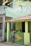 巴西生活在小巴伊亚村庄 免版税库存照片