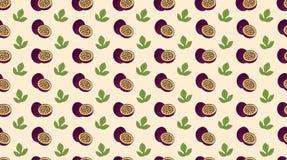 西番莲果无缝的样式 图库摄影