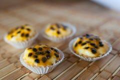 西番莲果饼 免版税库存照片