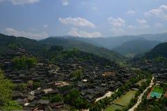 西疆Qianhu庙村 免版税库存照片