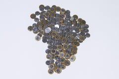 巴西真正的硬币 免版税库存照片