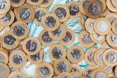 巴西硬币和钞票 库存照片