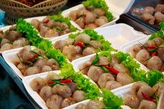 西米猪肉,泰国点心样式。 库存照片