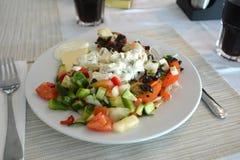 西红柿原料用乳酪和蓬蒿 健康面筋释放食物 库存照片