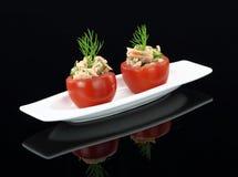 西红柿原料金枪鱼 图库摄影