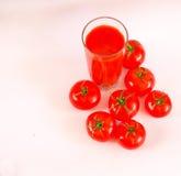西红柿汁刷新的饮料健康饮料夏天喝 免版税库存照片